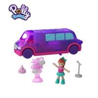 Polly Pocket Pollyville (Party Limo) - Mainan Boneka Anak Perempuan