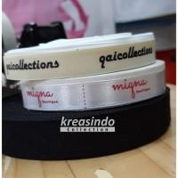 Sablon Label Baju Anak MURAH Grosgrain 1cm