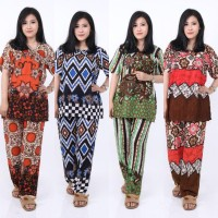 Setelan CP FOXY Setelan Batik Piyama Batik Baju Tidur Daster Cantik