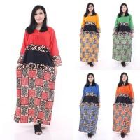 Longdres batik Asmat Daster busui Baju batik Baju tidur Dress bati