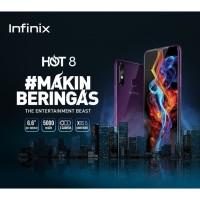 Infinix Hot 8 X650C Smartphone - 4/64GB - Garansi Resmi - Black