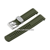 Strap Crafter Blue CB02-Sumo-Green 20mm Curved End Rubber Strap