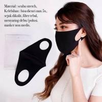 Masker Kain Scuba 1Pack isi 12pcs (Hitam)
