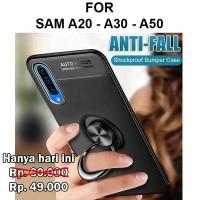 Case Samsung A20 - A30 - A50 casing hp back cover tpu AUTO FOCUS IRING - A20 A30, Hitam