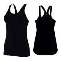 Domyos Tank Top Yoga Full Black Wanita Decathlon 8484446