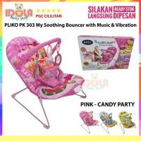 Pliko Baby bouncer My Soothing Kursi Getar Bayi PK303 Pink Candy Party