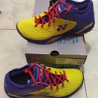 hot sales - Sepatu Badminton Yonex SHB 03 Z Men Yellow/Blue Original