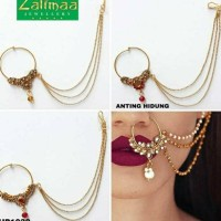 Nath rantai/anting hidung/perhiasan india/anting india