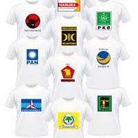 Kaos Baju Obral Combed 30s Distro Partai Pan Demokrat Hanura Gerindra