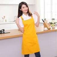 Celemek masak kuning Putih