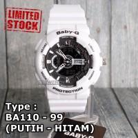 STOCK TERBATAS !!! Baby-G Shock BA-110 Putih Jam tangan wanita & anak