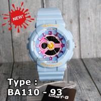 LIMITED EDITION !!! Baby-G Shock BA-110 Biru Pink Jam tangan wanita