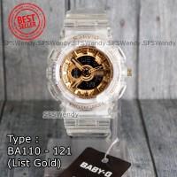 PALING LAKU !!! Baby-G Shock BA-110 Trasnparan gold Jam tangan wanita