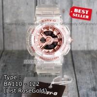 Baby-G Shock BA-110 transparant Rosegold Jam tangan wanita & anak