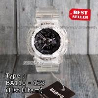 Baby-G Shock BA-110 Transparan Anniversary Black Jam tangan wanita