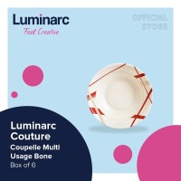 Luminarc Piring Couture - Coupelle Multi Usage Bone - Box of 6