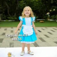 BAJUKIDDIE CASUAL ALICE DRESS dress anak pesta gaun ultah kostum baju - Size 100