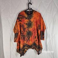 Atasan Wanita Batik Jumputan | Katun | Orange Motif | Promo
