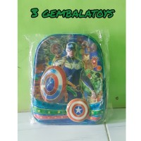 3 GEMBALATOYS PROM😚Tas Anak Karakter Captain Amerika💚❤
