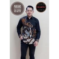 Wayang Sogan Kemeja Batik Pria Lengan Panjang by SM-Batik