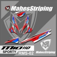 Stiker Striping Lis Variasi Motor Mio SPORTY Desain Racing RMS 02