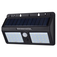 ZLR Lampu Solar Sensor Gerak Outdoor Weatherproof 40 LED Black