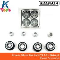 Kreauto Wheels Ban Karet V2 9-9 L Bintang 8 Diecast Accessories