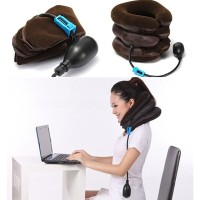 Bantal Leher Tiup Adjustable untuk Meredakan Nyeri/Pegal Bahu
