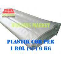 PLASTIK BANGUNAN DAK BETON PLASTIK COR BENING 2 LAPIS PER ROL +/- 6 KG