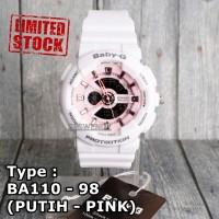 Jam tangan Baby-G Shock BA-110 Putih Pink wanita & anak anti air skmei