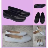 Sepatu flat pantofel kerja wanita ukuran besar jumbo Trepes dop