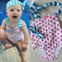 Baju renang anak bayi import set bandana one piece cepat kering
