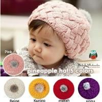 topi kupluk nanas rajut anak / pinnaple hat kids