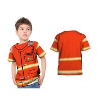 2s5 - Kaos Baju Anak Profesi Pemadam Kebakaran Fullprint Custom