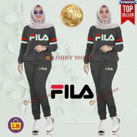LM 03664 Baju Setelan Olahraga Senam Training Wanita FL XXXL - Kunyit, XXXL