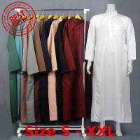 Jubah Muslim Saudi Panjang - Gamis Pria - Baju Lebaran Cowok - CS001
