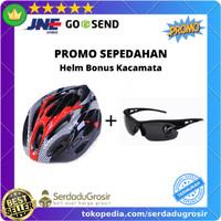 PROMO! Paket Aksesoris Helm Sepeda MTB bonus Kacamata Sepeda Keren