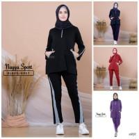 Stelan Baju celana olahraga senam wanita muslimah NAYYA SPORT zumba yo