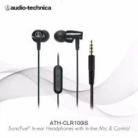 Audio Technica ATH-CLR100iS Headset Earphone with Mic ORIGINAL