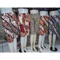 Celana Kulot Pendek Batik 7per8 Wanita Jumbo - Motif Random - Random Warna, All Size