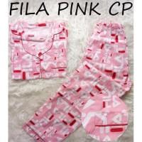 Promo Cp Fila Pink Baju Tidur Wanita Dewasa Piyama Cewe Cewek Motif