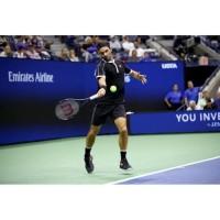 Uniqlo Federer US Open 2019 Tennis Polo Shirt Baju Tenis Black