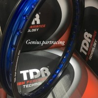 Great VELG W SHAPE BLACK BLUE 140X17 RING 17 TDR RACING TWO T Gp