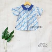 Baju Atasan Batik Anak Perempuan Candy Blouse - Biru Muda, sz S