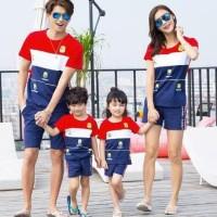 Family Couple Minion Banana Kaos 2 Anak Baju Keluarga - SESUAI FOTO