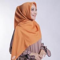 READY STOCK Zoya Kerudung Segi Empat Polos - Nov Scarf Warna Orange