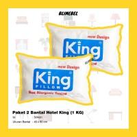 PAKET 2 Bantal Tidur Silikon Grosir Murah King Pillow