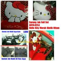 Sarung Jok Hello Kitty Merah Bintik Hitam Khusus Mobil AGYA/AYLA