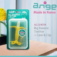 Ange Big Banana Teether With Clip and Case