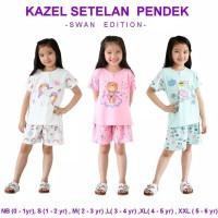 Piyama Anak / Kazel Setelan Pendek Swan Edition 3 SETEL